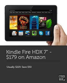 Kindle Fire HDX only $179