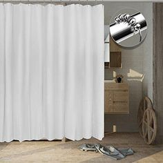 Tishine Mildew Resistant Shower Curtain Water-Repellent and Anti-Bacterial 72x72 - White