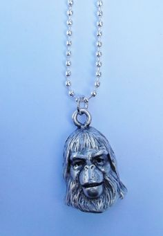 pewter Planet of the Apes Dr. Zaius necklace POTA