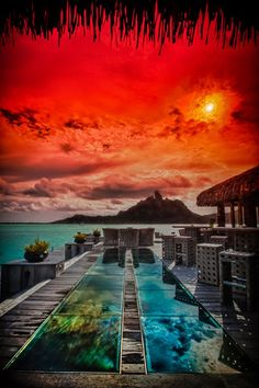St. Regis, Bora Bora, Tahiti #travel #awesome Visit www.hot-lyts.com to see more background images