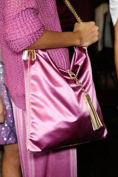 Blumarine at Milan Fashion Week Spring 2013 - Backstage Runway Photos Pink Love, Pretty In Pink, Pink And Gold, Hot Pink, Pink Fashion, Fashion Bags, Milan Fashion, Sacs Design, Michael Kors Sunglasses