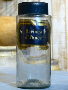 Large French Apothecary glass jar