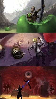 Wall of Flesh (Painting) Eater of Worlds, Slime : Terraria