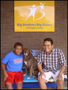 Jaeden and Pedro with Miss Sweet Weasel Brown, our office dog! Jaeden and Pedro were a Bigs in Schools match but converted over to Community Based when they realized how much fun they were having! Miss Sweet, Office Dog, Douglas County, Match Highlights, Schools, Community, Big, Brown, School
