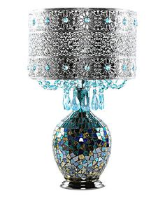 Loving this Blue Mattei Crystal & Mosaic Table Lamp & Metal Shade on #zulily! #zulilyfinds