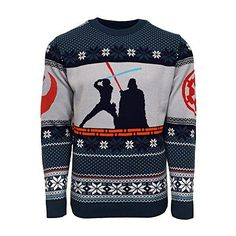 Shop a great selection of Official Star Wars Luke Vs Darth Christmas Jumper/Ugly Sweater. Find new offer and Similar products for Official Star Wars Luke Vs Darth Christmas Jumper/Ugly Sweater. Best Ugly Christmas Sweater, Knitted Christmas Jumpers, Funny Christmas Gifts, Christmas Knitting, Christmas Clothes, Christmas Fashion, Xmas Gifts, Snoopy Sweater, Ugly Sweater