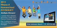 Fitness for Homeschool Giveaway: 1500$ Tablet / Platinum Package Giveaway