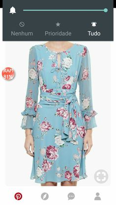 Simple Dresses, Pretty Dresses, Casual Dresses, Short Dresses, Dresses With Sleeves, Floral Maxi Dress, Chiffon Dress, Classy Outfits, Beautiful Outfits