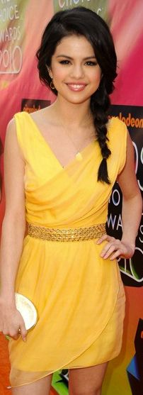 Selena Gomez looks beautiful in this dress! And I love the braid!