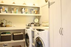 chalk painted kitchen cabinets amp cottage kitchen redo, electrical, home decor, kitchen cabinets, kitchen design, The kitchen now ties in better with the adjoining laundry room