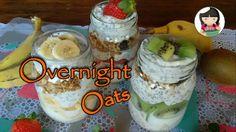 Overnight Oats 3 Sabores | Para um café da manhã rápido e saudável | Dik...