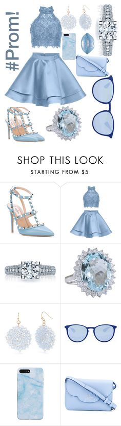 """""""Prom outfit."""" by kittycatgirl9 ❤ liked on Polyvore featuring Valentino, Alyce Paris, Tacori, New Directions, Ray-Ban and Kate Spade"""