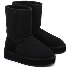 EMU Stinger Lo Flatform - Czarne Zamszowe Kozaki Damskie #mivo #mivoshoes #shoes #buty #emu #winter #suede #cold #weather #boots #black #flatform #colors #fashion #popular #style #stylish #new #collection #newcollection #snow #2015 #2016