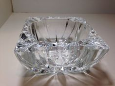 Vintage Square Cut Crystal Ashtray ****NO RESERVE****