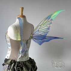 Medium Tendril Painted Iridescent Fairy Wings by TheFancyFairy