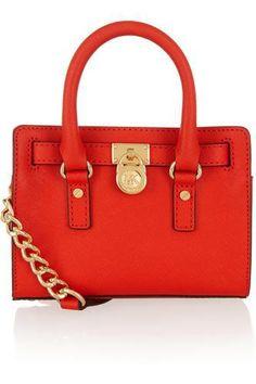 Hamilton mini leather shoulder bag #accessories #women #covetme #michaelmichaelkors