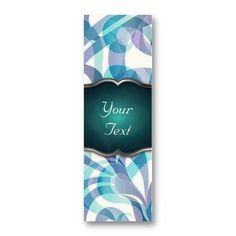 SOLD 25 Bookmark Business Cards! Floral abstract background  http://www.zazzle.com/bookmark_business_card_floral_abstract_background-240087280863561097
