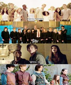 Hunger Games, Harry Potter, Percy Jackson,  and Narnia. Always.