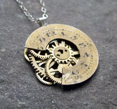 Watch Face Necklace Excise Reconstructed Watch by amechanicalmind, $50.00
