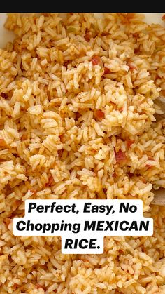 Crockpot Recipes Mexican, Rice Cooker Recipes, Easy Rice Recipes, Cooking Recipes, Spanish Rice Recipes, Easy Spanish Rice Recipe, Crockpot Spanish Rice, Mexican Beans Recipe, Chinese Rice Recipe