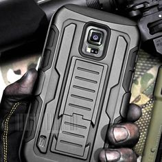 For Samsung Galaxy S5 Active Case Cover Armor Kickstand Holster Belt Clip Combo