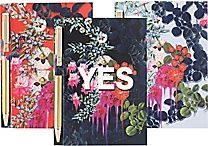 Cynthia Rowley Memo Pad with Pen, Assorted Floral
