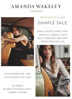 Amanda Wakeley Sample Sale -- London -- 08/11-09/11