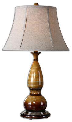 Lamps Algona Honey Gold Lamp by Uttermost