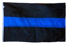 Durasleek - Thin Blue Line Flag - Sewn & Embroidered - 3 x 5 Feet