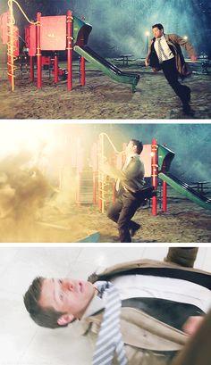 [gifset] 10x17 Inside Man #SPN #Castiel adorable action hero!
