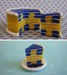 Swedish flag cake with yellow cross in middle Swedish Recipes, Swedish Foods, Swedish Flag, Flag Cake, Swedish Christmas, Swedish Design, Candy Making, Pretty Cakes, Celebration Cakes