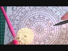 YouTube Crochet Videos, Crochet Patterns, Knitting, Diy, Crochet Throw Pattern, Binder, Tutorials, Dots, Tejidos