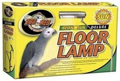 Zoo Med AvianSun Deluxe Floor Pet Lamp by Zoo Med. $38.49. Optional AvianSun 5.0 UVA/UVB bulb recommeded; Manufactured to the Highest Quality Available; Brings the Sun Indoors; Design is stylish and innovative; Light bulb sold seperately. Zoo Med Avian Sun Deluxe Floor Lamp The new AvianSun? Deluxe Floor Lamp from Zoo Med allows bird keepers to provide their birds with true full spectrum light, including UVB and UVA, just like they get in nature. This floor lamp is designed for...