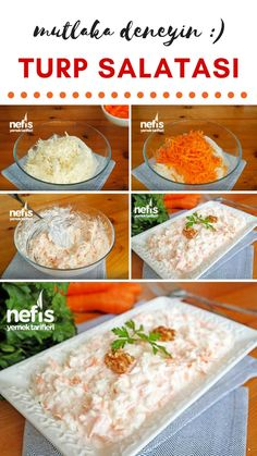 - Nefis Yemek Tarifleri Video lecture How to Make Radish Salad with Yogurt? Video explanation of Yoghurt Radish Salad in the book of people and photos Salad Recipes For Dinner, Dinner Salads, Shrimp Recipes, Fish Recipes, Crab Stuffed Avocado, Cottage Cheese Salad, Salad Menu, Radish Salad, Calories