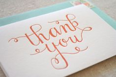 Beautiful orange and turquoise?  Why thank you!  Parrott Design Thank You Card
