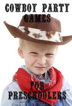 Lasso Up Some Fun with Cowboy Party Games For Preschoolers: Head to the Wild Wild West with these fun cowboy party games for preschoolers! You'll lasso up an amazing experience and be the party planning talk of town! Cowboy Birthday Party Games, Western Party Games, Western Parties, Cowgirl Party, Soccer Party, Kids Party Games, Cowboy Theme, Western Theme, Pirate Party