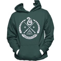Slytherin Wand Dueling Club Unisex Hoodie,Harry Potter, Slytherin,... (130 BRL) ❤ liked on Polyvore featuring tops, hoodies, graphic tops, snake shirt, graphic hoodie, hoodie shirt and green shirt