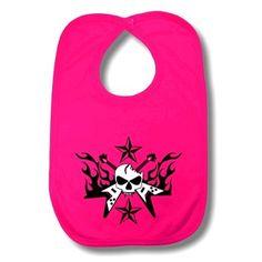 Guitar Baby Bib Pink
