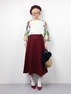 ひいこさんの「圧縮ウール シルキーストロングスカート◆(FIGARO Paris)」を使ったコーディネート