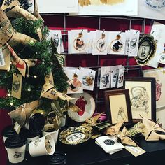 Champion Lianna Kapelle has restocked for Christmas today! Great new Christmas decorations pins and artworks have arrived!
