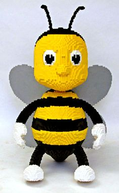 LEGO bee - maybe my nephew will make this for me someday!