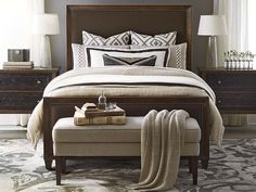 Compass Upholstered Bed by Bassett Furniture. This Casual Luxe design trend works on both coasts and everywhere in between.
