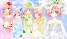 Amu's Transformations- Amulet Heart with ran, Amulet Spade with Miki, Amulet Clover with Su, and Amulet Fortune with all Four of her Guardian Characters