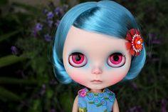 Blue Hair Blythe cute