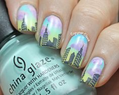 Copycat Claws: Sunday Stamping - Skyline Nails