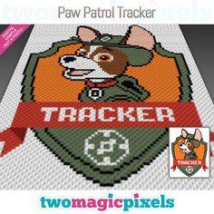 Paw Patrol Tracker crochet graph (C2C, Mini C2C, SC, HDC, DC, TSS), cross stitch; knitting; PDF download, no counts/instructions by TwoMagicPixels, $3.99 USD Perler Bead Disney, Perler Bead Art, C2c Crochet Blanket, Crochet Blanket Patterns, Cross Stitch Embroidery, Cross Stitch Patterns, Ryder Paw Patrol, Clip Art Pictures, Paw Patrol Birthday
