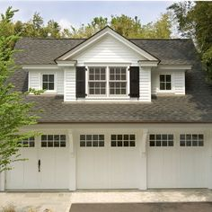 Gable Dormer Design above garage... except switch garage for our house, haha