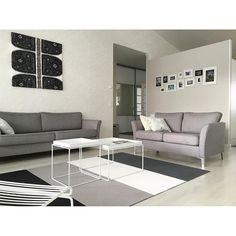 Woodnotes Fourways paper yarn carpet. Living room. Greys.