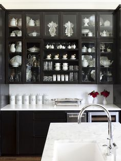 1000 images about kitchens in black on pinterest black - Glossy black kitchen cabinets ...