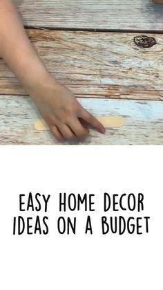 Diy Crafts Hacks, Diy Home Crafts, Diy Arts And Crafts, Creative Crafts, Decor Crafts, Diys, Dollar Tree Crafts, Easy Home Decor, Diy On A Budget